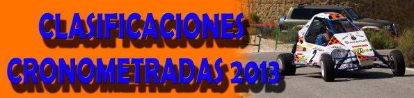 CLASIFICACIONES CRONOMETRADAS 2013